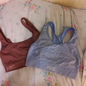 2 new pink Victoria secret sports bras